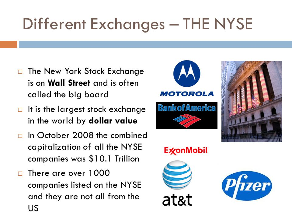 Different Exchanges – THE NYSE
