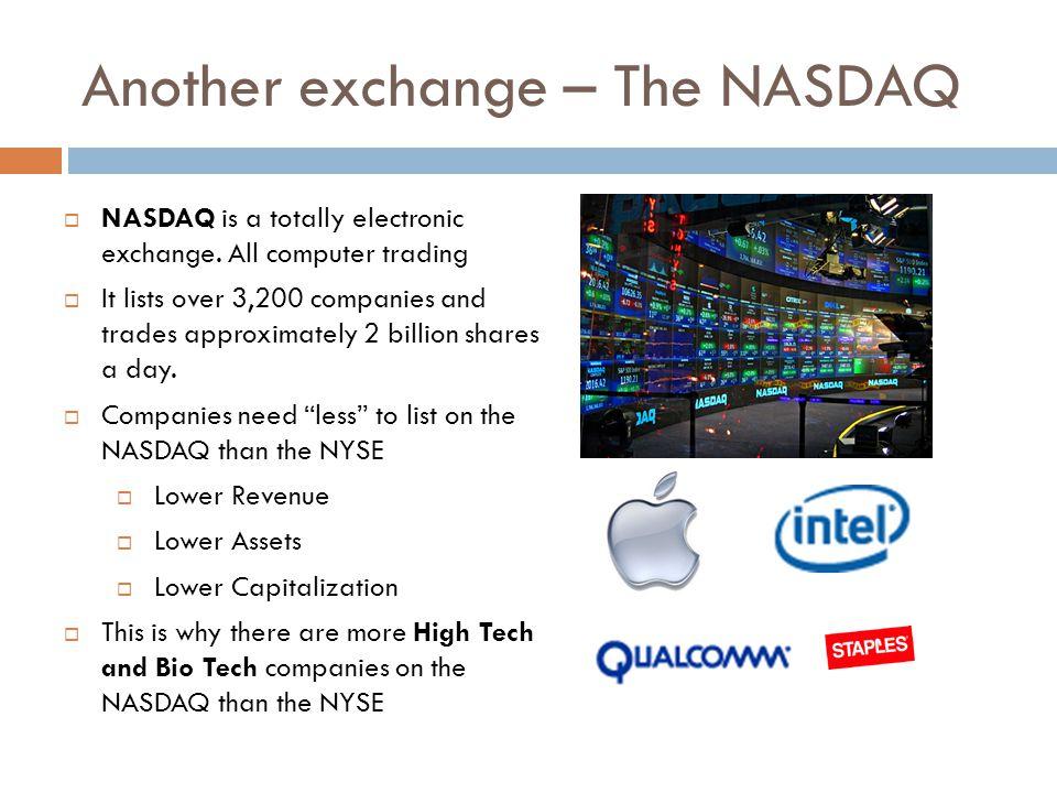 Another exchange – The NASDAQ