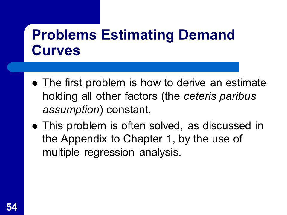 Problems Estimating Demand Curves