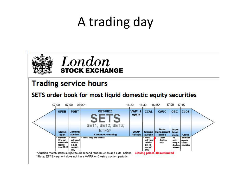 A trading day