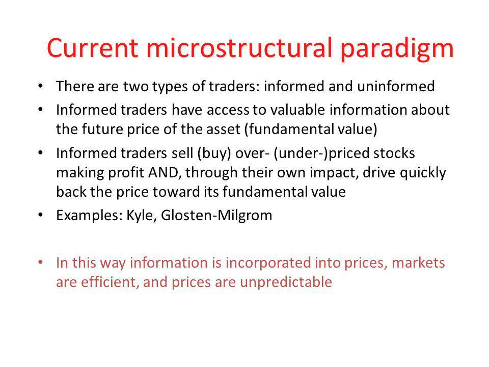 Current microstructural paradigm