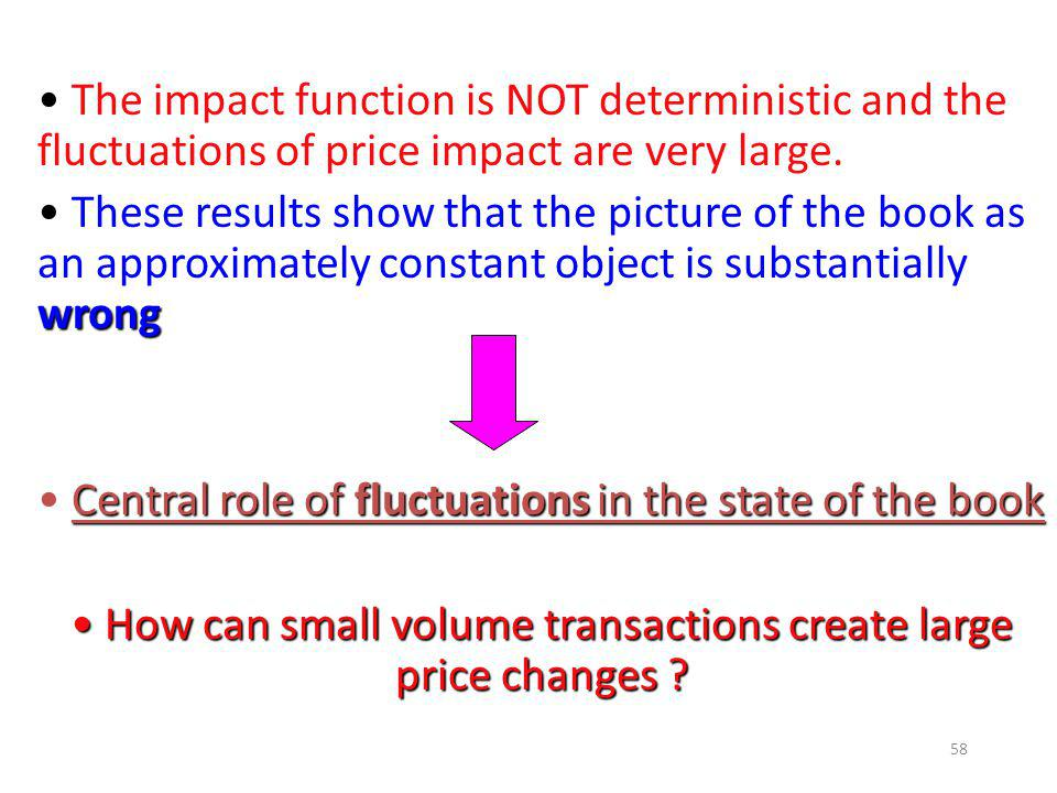 How can small volume transactions create large price changes