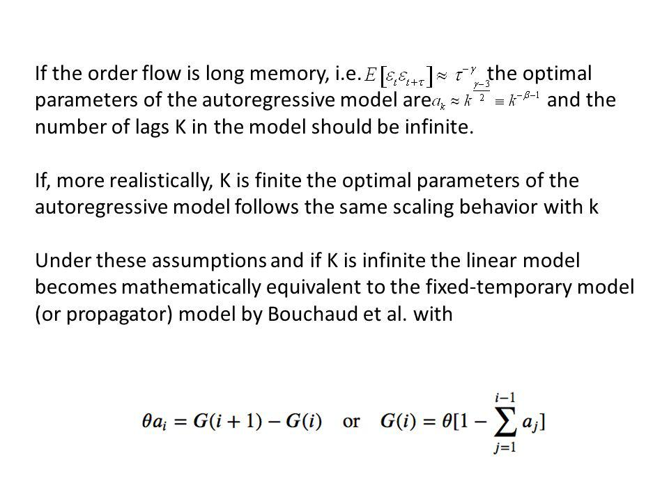 If the order flow is long memory, i. e