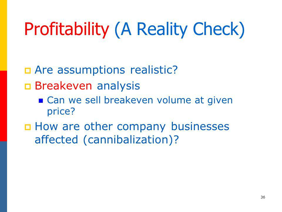 Profitability (A Reality Check)