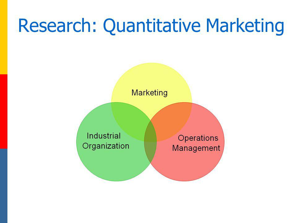 Research: Quantitative Marketing