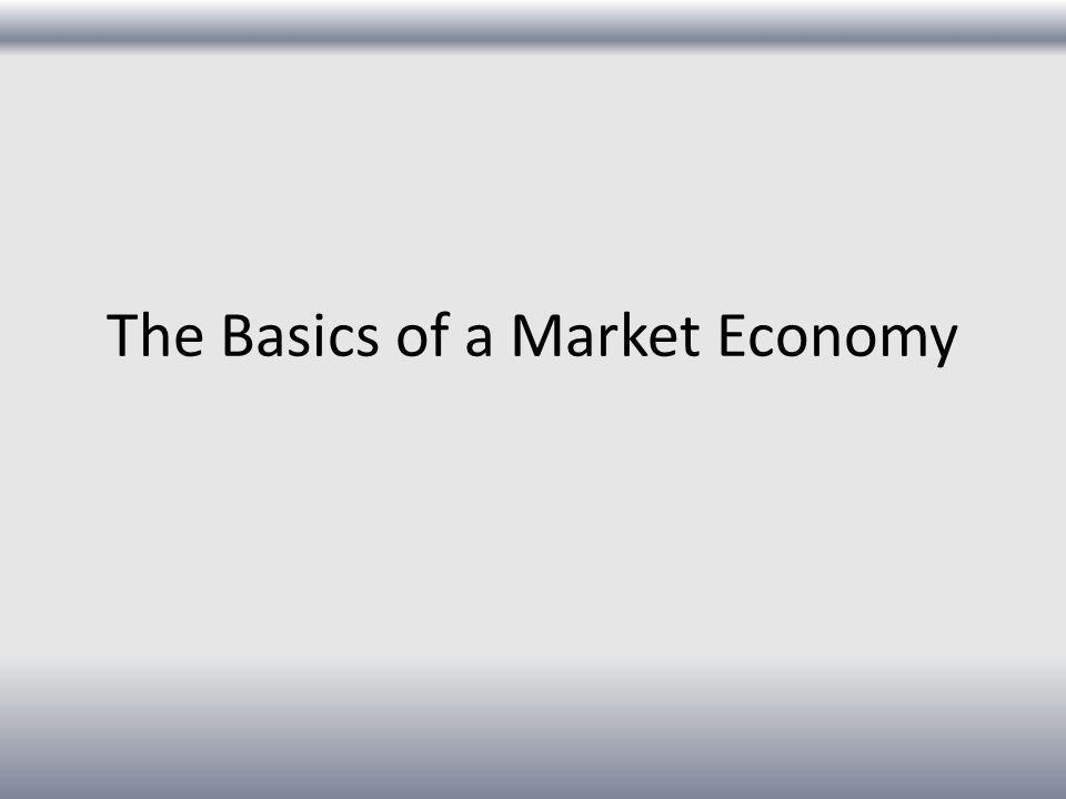 The Basics of a Market Economy