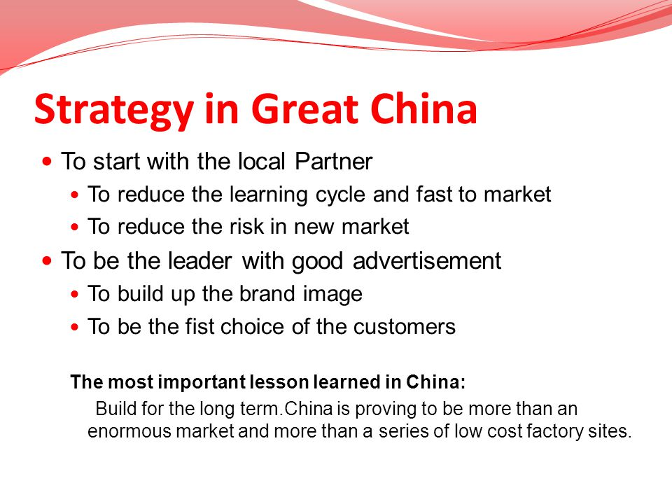 Strategy in Great China