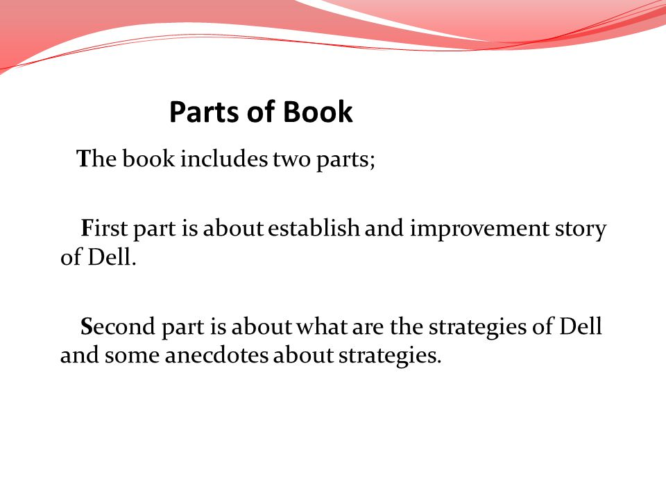 Parts of Book