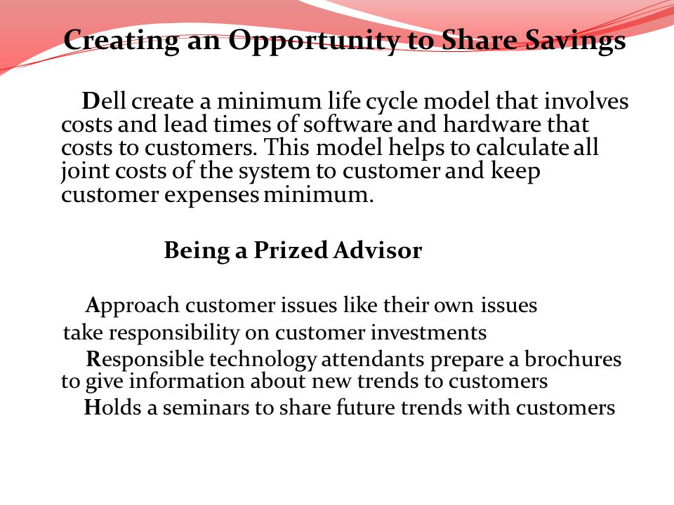 Creating an Opportunity to Share Savings