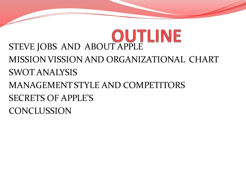 Job essay outline
