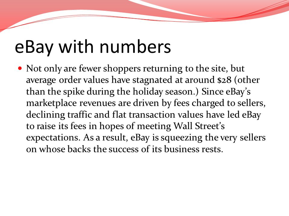 eBay with numbers