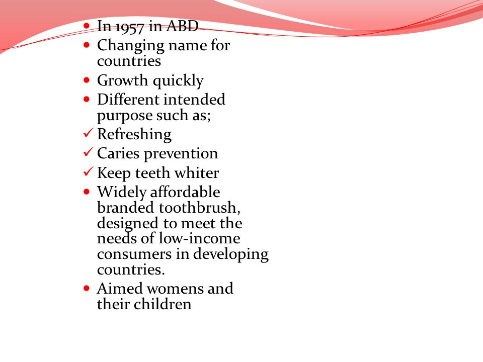 In 1957 in ABD Changing name for countries. Growth quickly. Different intended purpose such as; Refreshing.