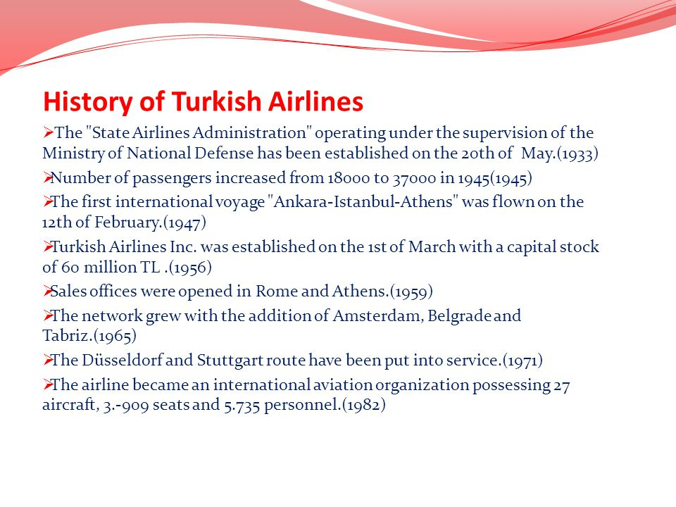 History of Turkish Airlines