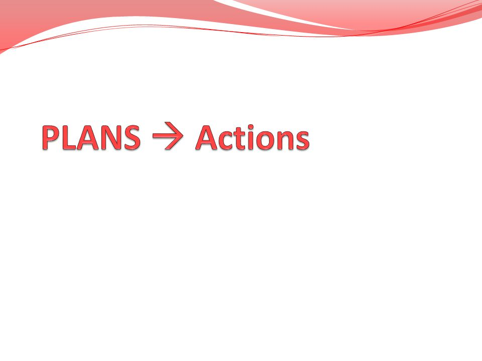 PLANS  Actions
