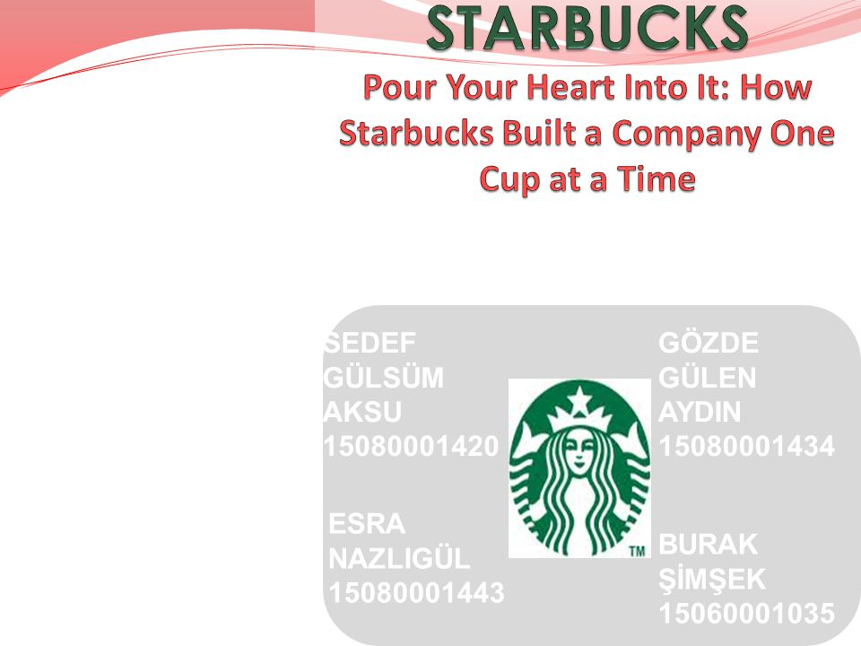 STARBUCKS Pour Your Heart Into It: How Starbucks Built a Company One Cup at a Time