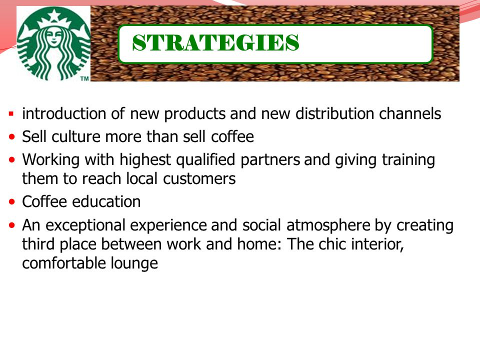 STRATEGIES introduction of new products and new distribution channels