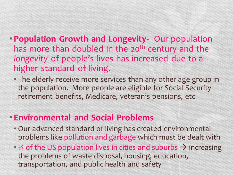Environmental and Social Problems