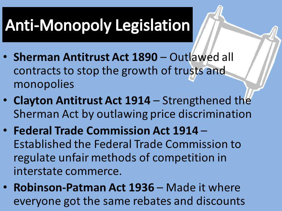 Anti-Monopoly Legislation