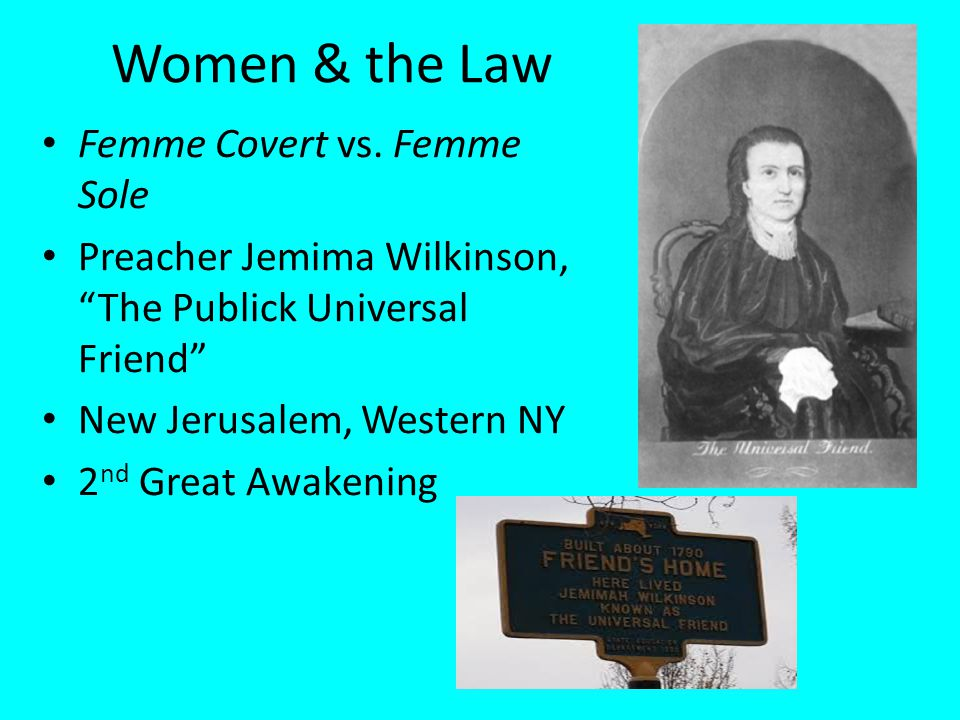 Women & the Law Femme Covert vs. Femme Sole