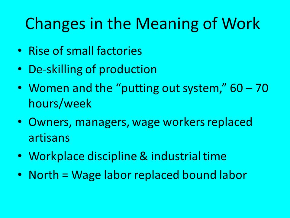 Changes in the Meaning of Work
