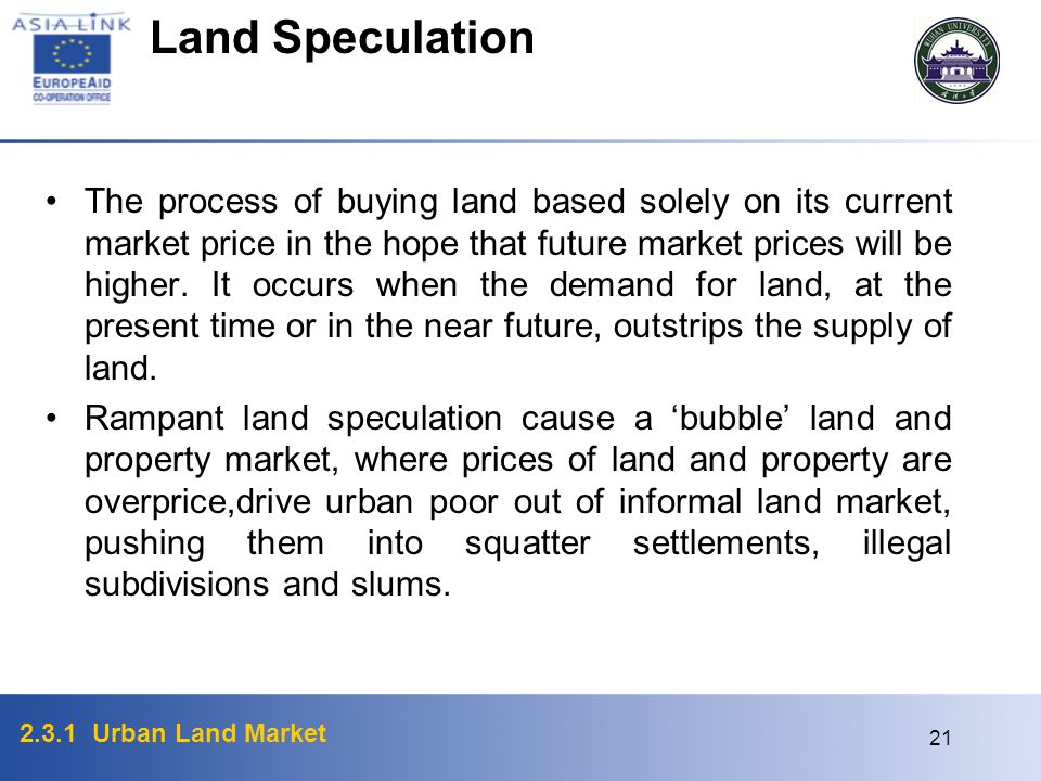 Land Speculation