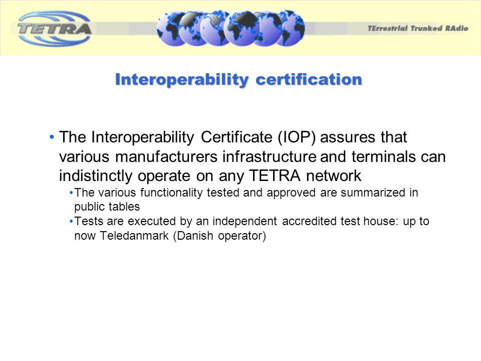 Interoperability certification