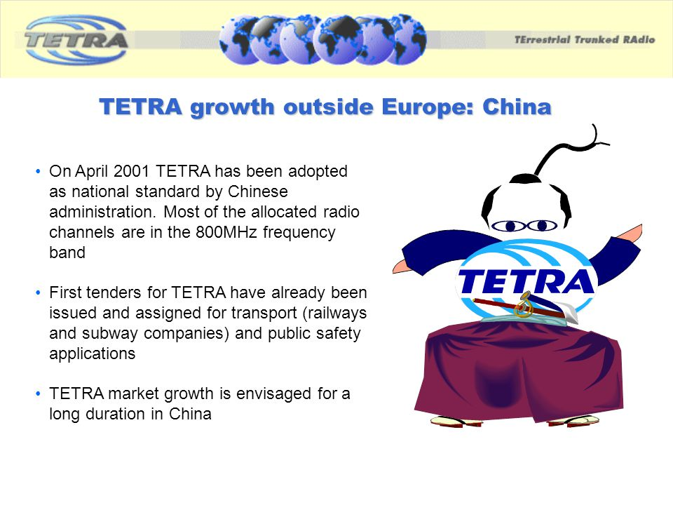 TETRA growth outside Europe: China