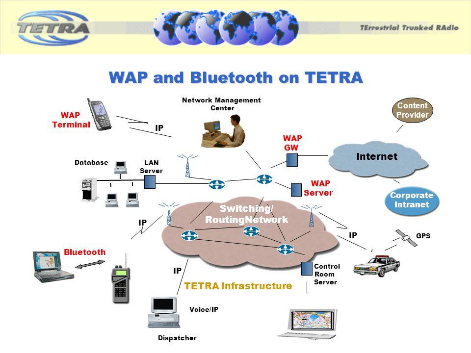 WAP and Bluetooth on TETRA