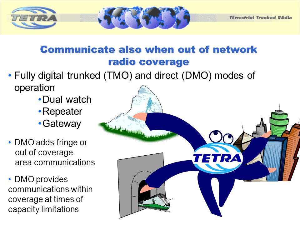 Communicate also when out of network radio coverage