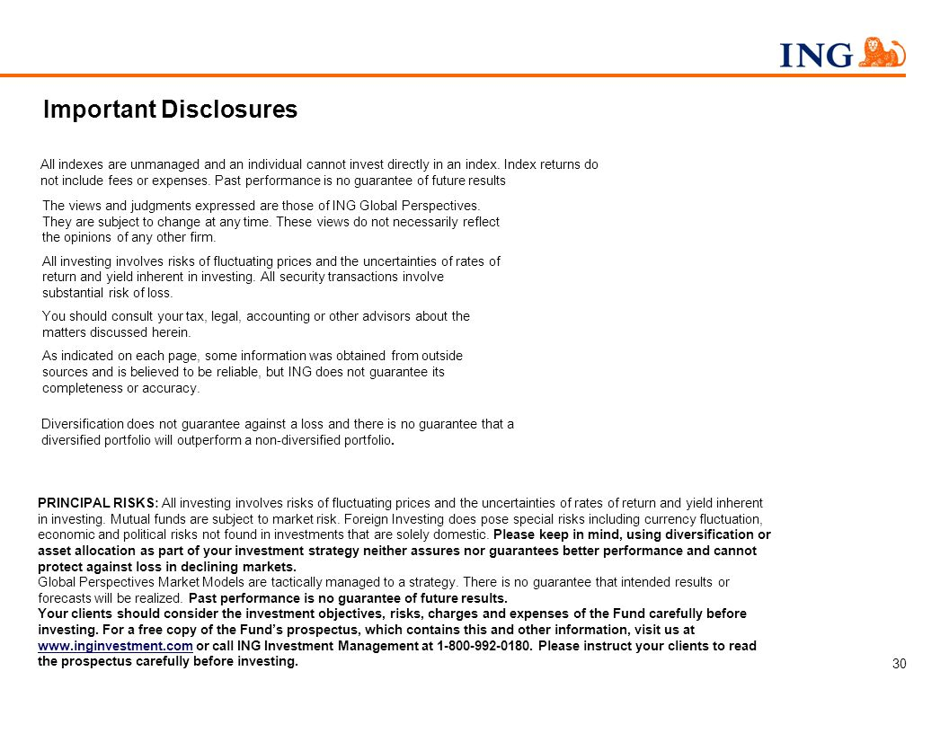 This presentation has been prepared by ING Investment Management for informational purposes.
