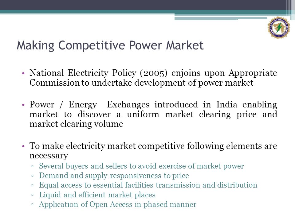 Making Competitive Power Market