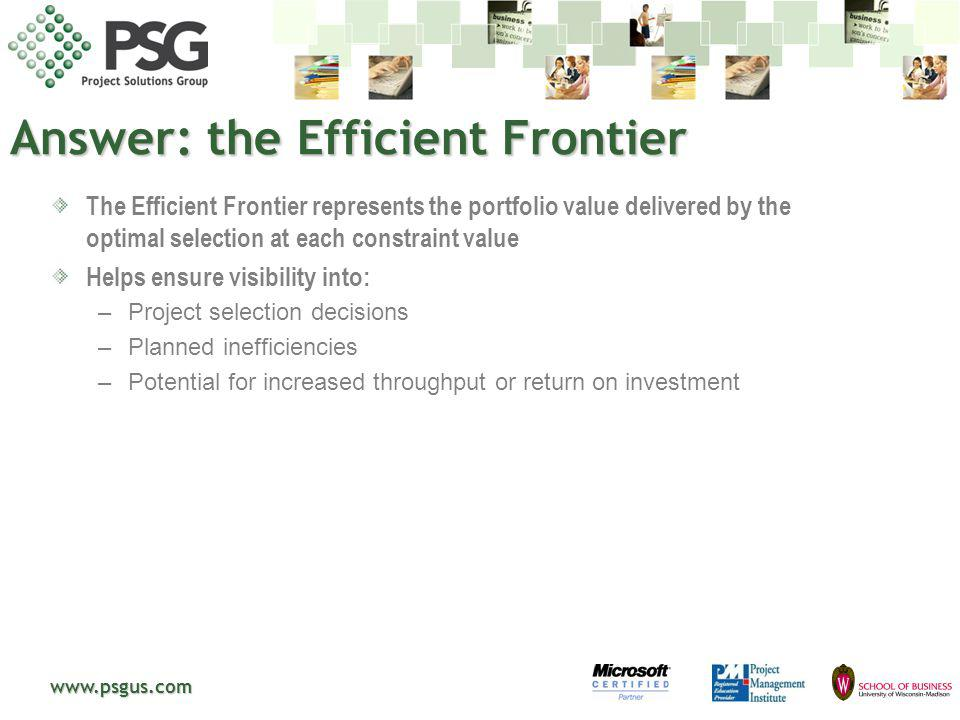 Answer: the Efficient Frontier