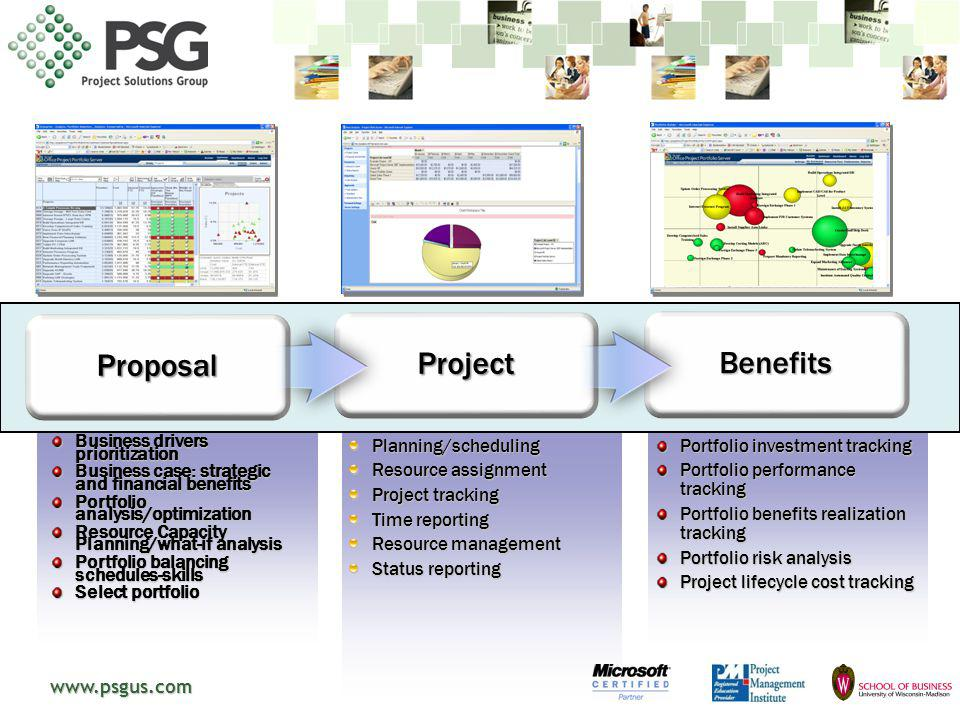 13 Proposal Project Benefits Business drivers prioritization