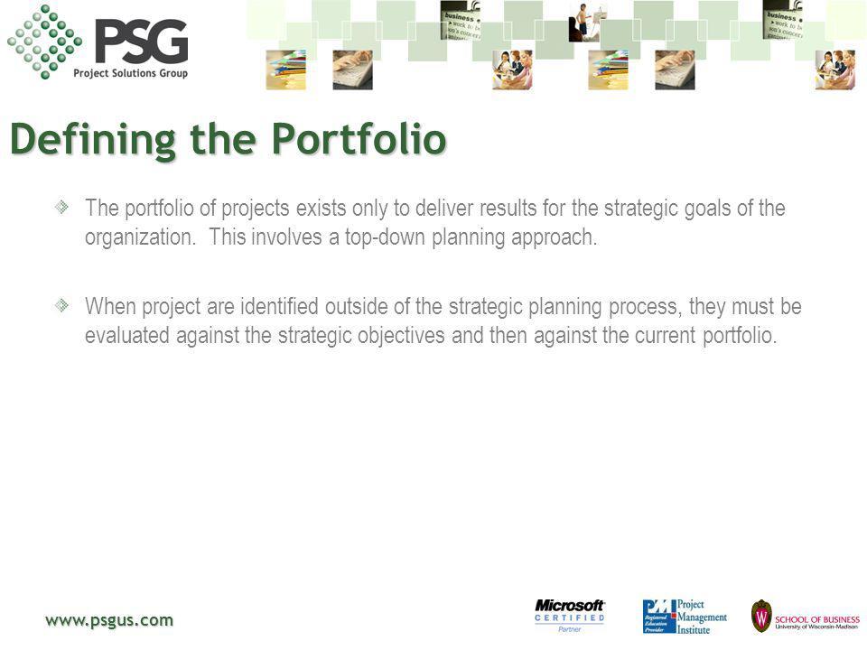 Defining the Portfolio