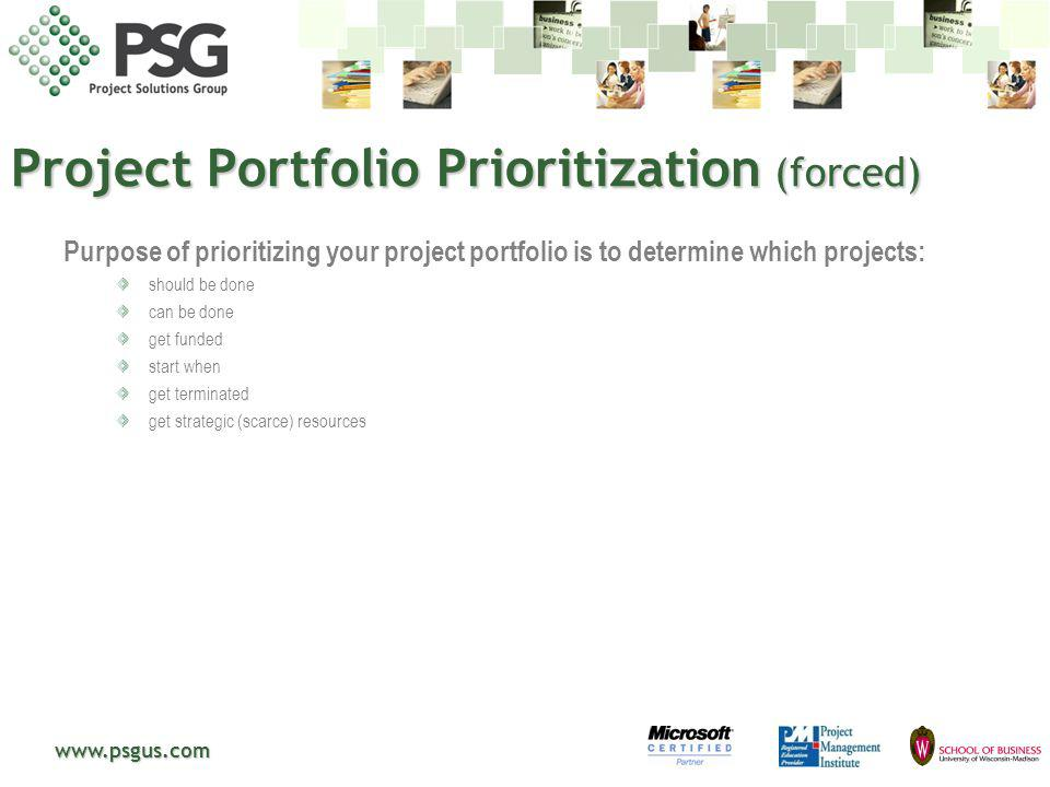 Project Portfolio Prioritization (forced)
