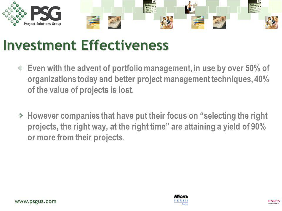 Investment Effectiveness