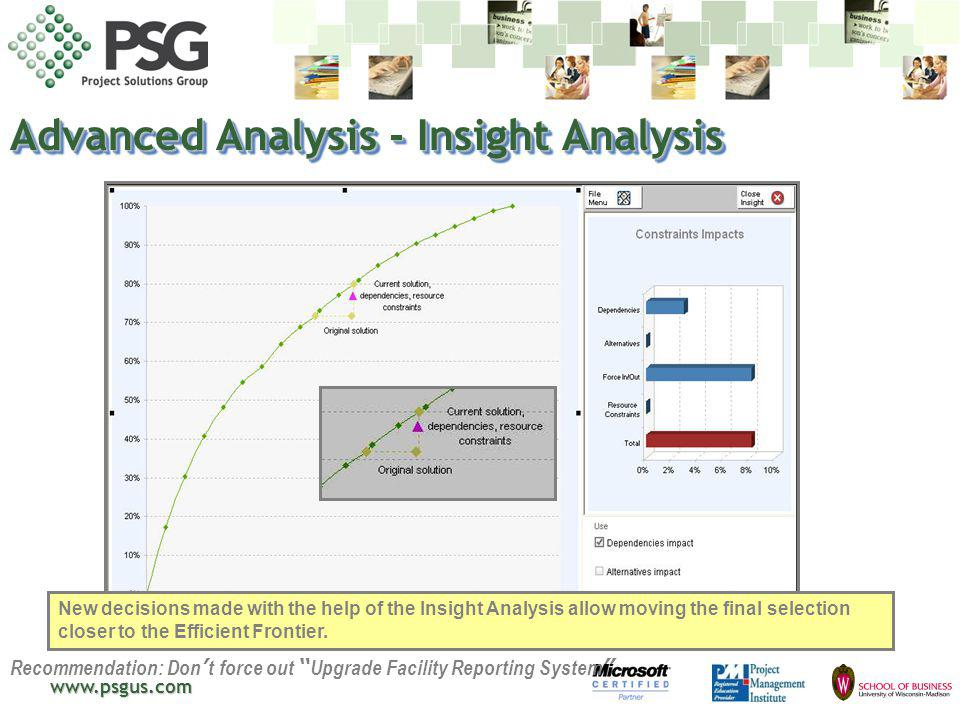 Advanced Analysis - Insight Analysis