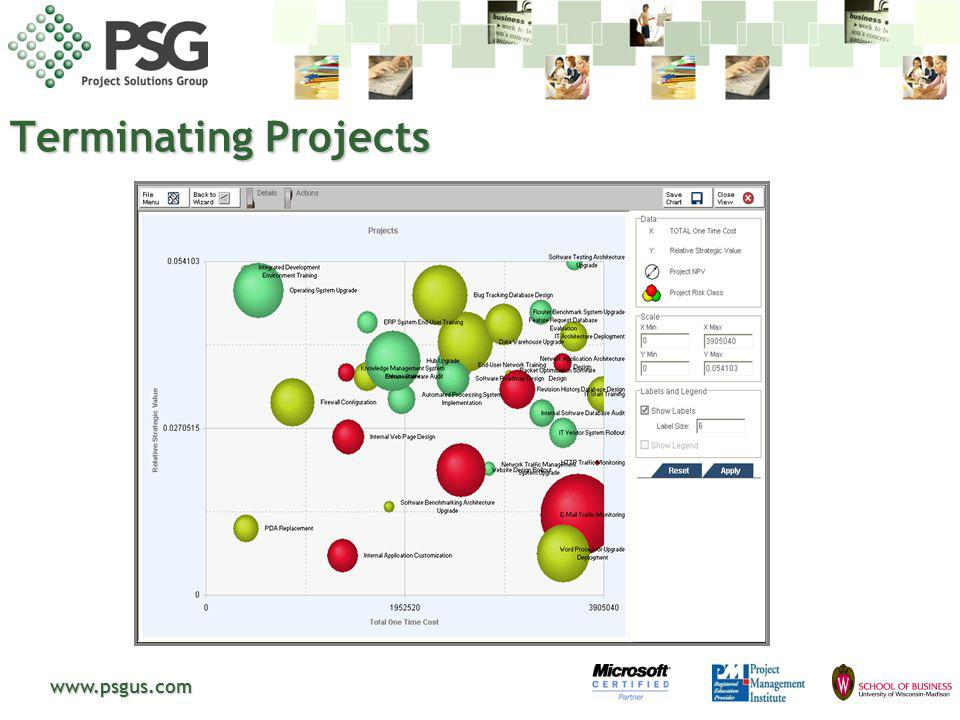 Terminating Projects www.psgus.com