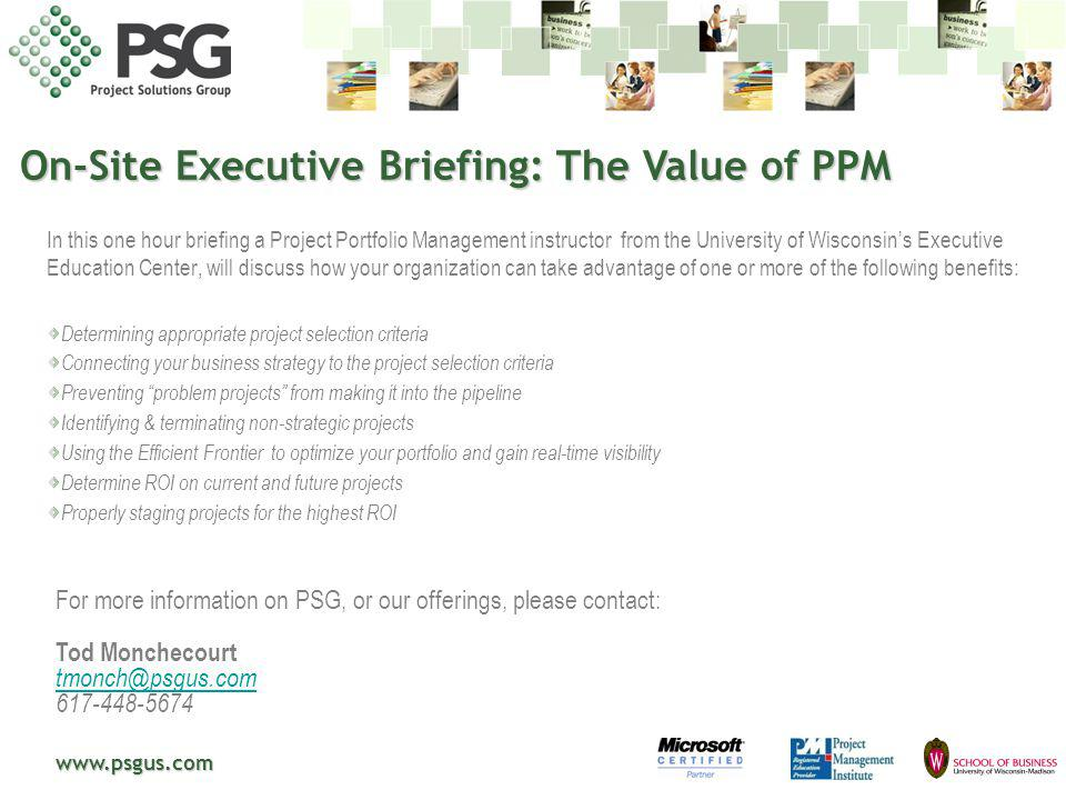 On-Site Executive Briefing: The Value of PPM