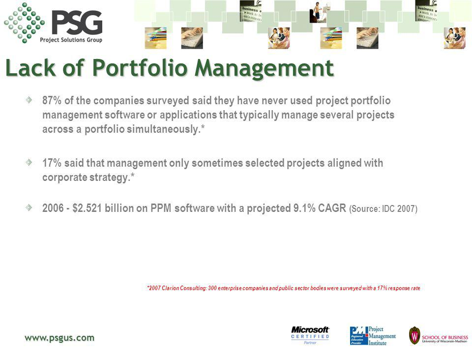 Lack of Portfolio Management