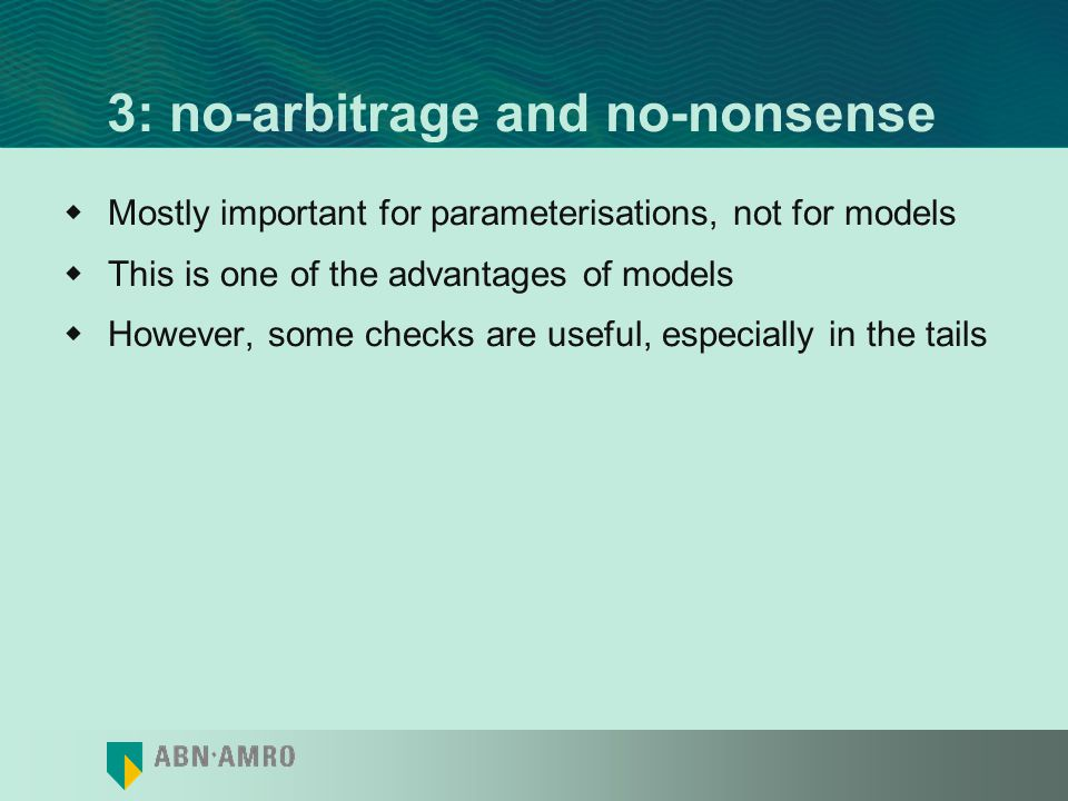3: no-arbitrage and no-nonsense
