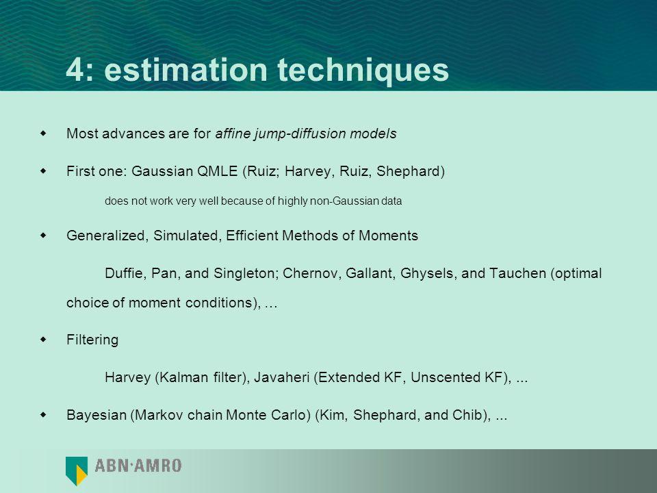 4: estimation techniques