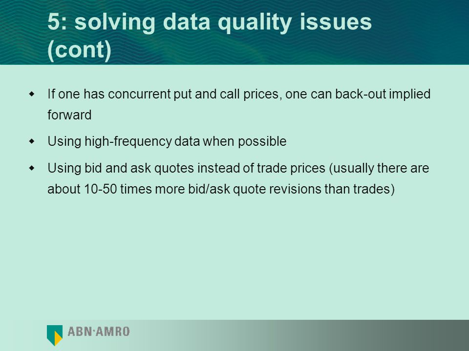 5: solving data quality issues (cont)