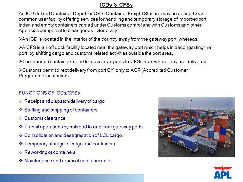 ICDs & CFSs