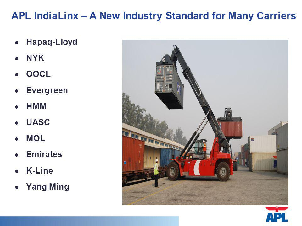 APL IndiaLinx – A New Industry Standard for Many Carriers