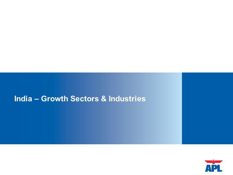 India – Growth Sectors & Industries