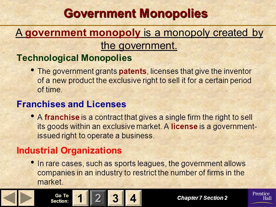 Government Monopolies