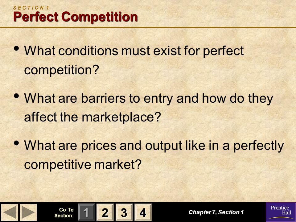 S E C T I O N 1 Perfect Competition