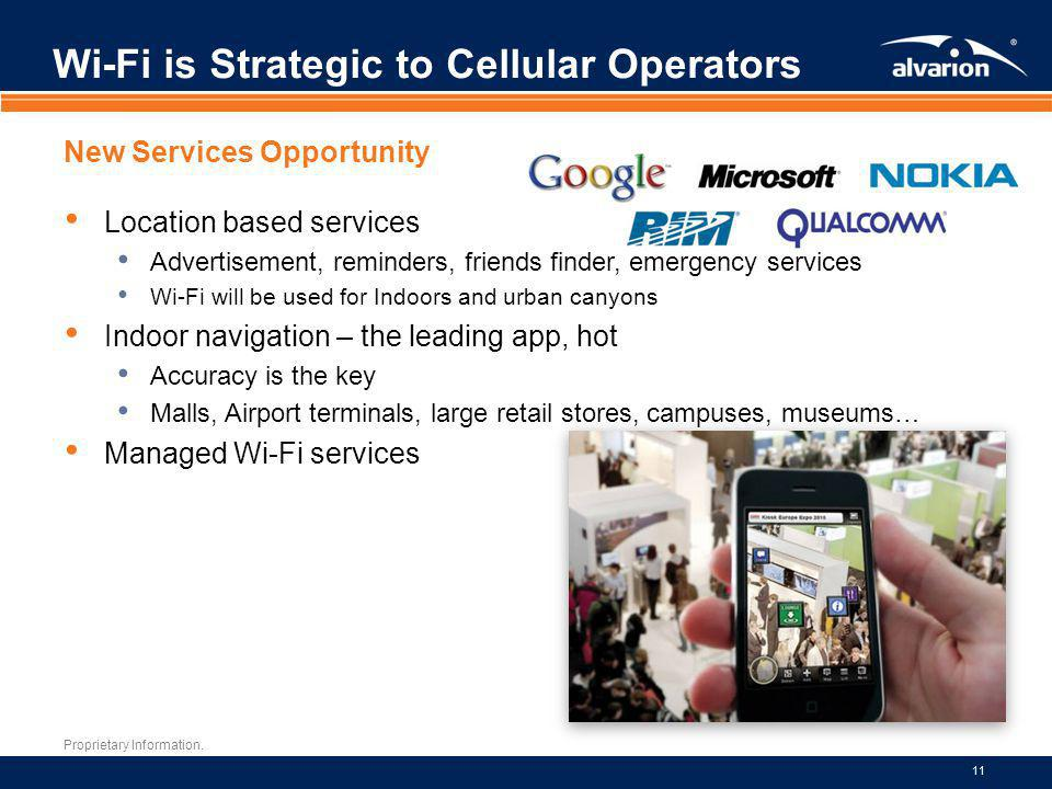 Wi-Fi is Strategic to Cellular Operators