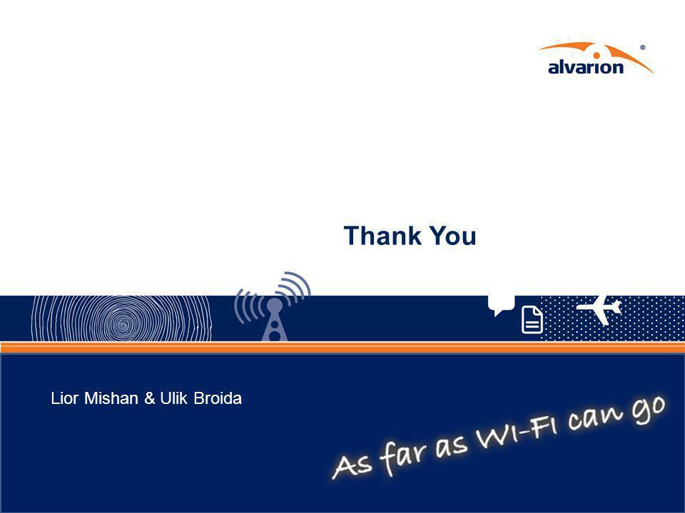 Thank You Lior Mishan & Ulik Broida